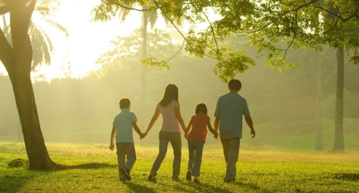 16926284 - family outdoor quality time enjoyment, asian people silhouette during beautiful sunrise